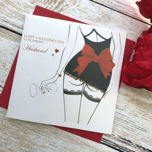 Personalised Handmade Valentine/'s Valentines Day Card Husband Boyfriend Fiancee