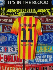 6a0f89ad3 4.5 5 Barcelona boys 12 13 yrs Neymar football shirt jersey trikot ...