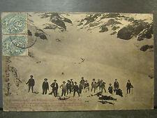 cpa 04 col de la pare catastrophe avalanche 22 fevrier 1904