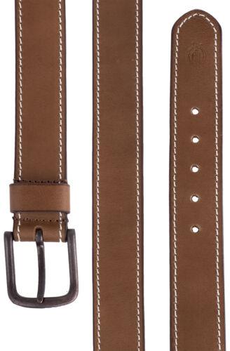 Braun Rockabilly Dickies Leder Gürtel BRANCHVILLE Belt mit Schnalle