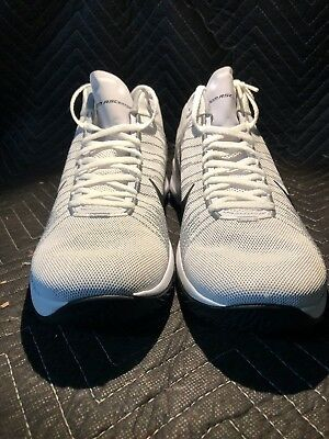 f6bf922286f3 Nike Zoom Ascention Mens 832234-100 White Black Grey Basketball Shoes Size  12 | eBay