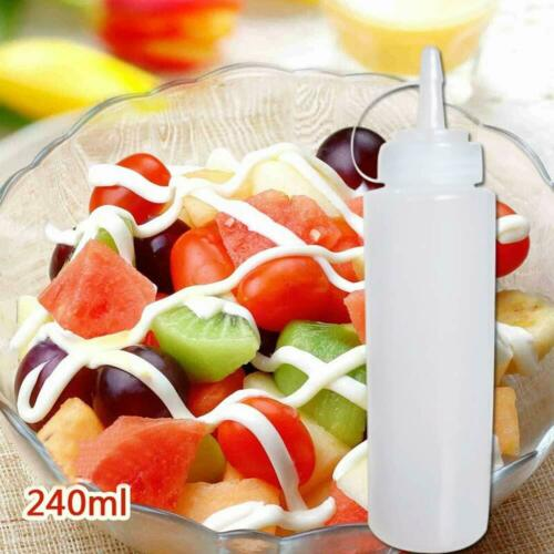 Bekith 12 pack 8 Oz Plastic Squeeze Squirt Condiment Bottles with Twist