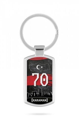 Schlüsselanhänger Türkei Karaman 70 Türkiye Plaka V2