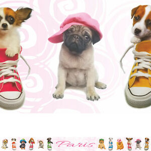 Details About Trendy Pups Personalised Dog Puppy Bedroom Wallpaper Wall Border Strips
