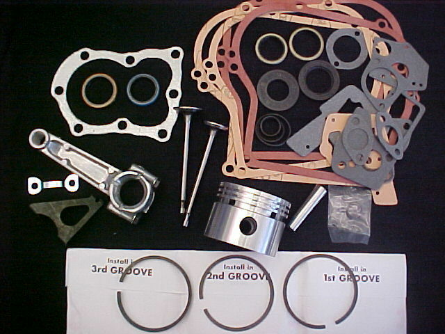 for 5HP, 5 horse power, for Briggs and Stratton rebuild Std Bore,Rod,Valves