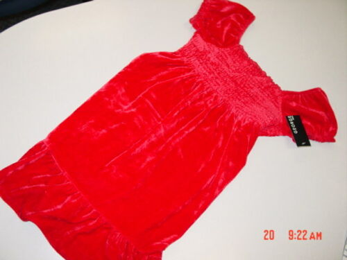 NWT Girls Red Velvet Dress By George Fancy Holiday