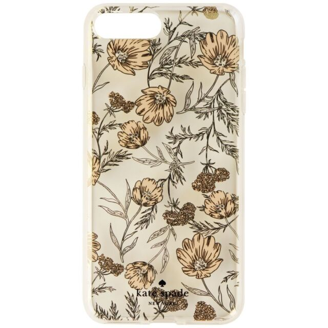 buy online 8030a 42eb0 Kate Spade Hardshell Case Blossom Pink Gold for iPhone 8 Plus 7 Plus