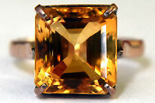 Antique 10K Solid Gold and Large Natural Citrine (4.95CT) Ring  Size 7 1/4