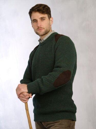 Mens Outdoorsman Hunting Aran Irish Sweater Wool S M L XL XXL Pullover