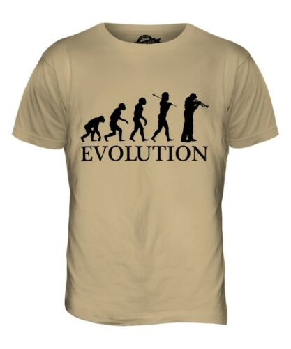 CORNET PLAYER EVOLUTION OF MAN MENS T-SHIRT TEE TOP GIFT MUSICIAN