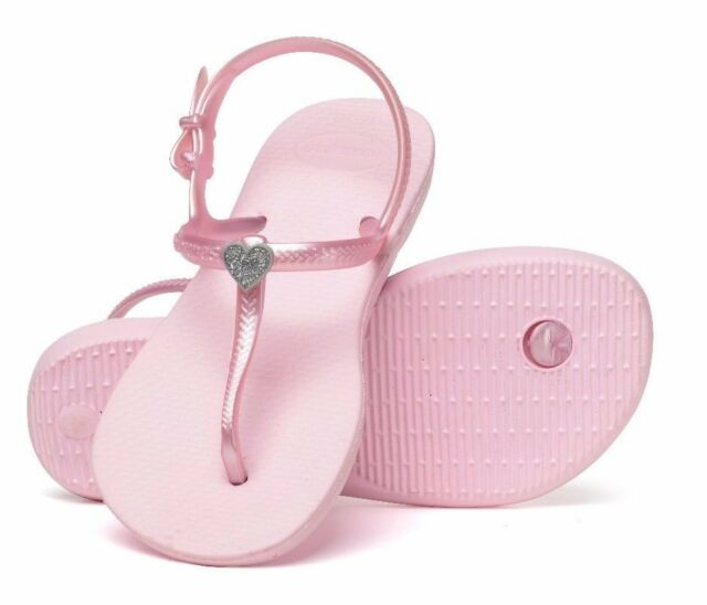 fb0e29ef493e7 Havaianas Girls Crystal Pink Freedom Sandals Youth Girls Size 1 1 2 - 2 1