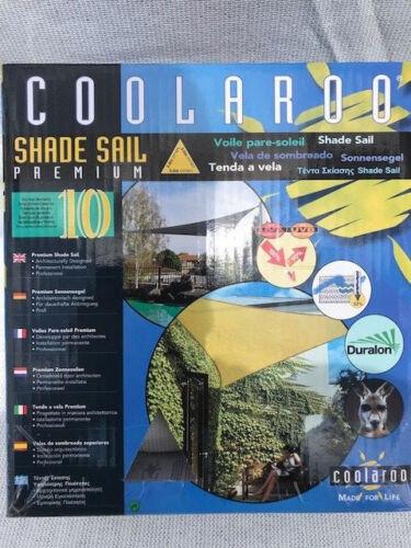 Sonnensegel Coolaroo  Dreieck 3,6 x3,6x 3,6 Meter sand-grün Neu