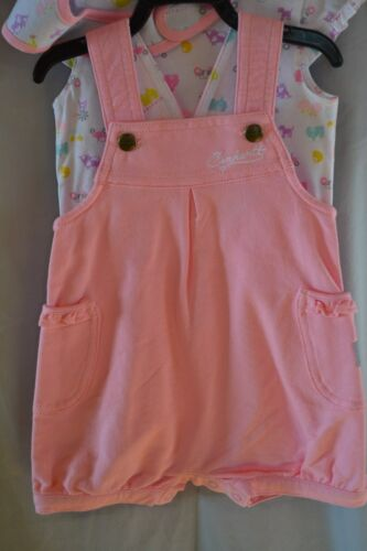 Carhartt Girls 3pc Outfit Shorts//Bib//Shirt CG9667 Babies//Infants 3-18mos NWT