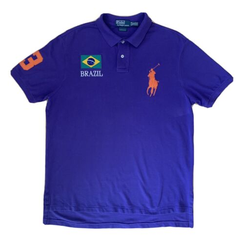 Vintage Polo Ralph Lauren Brazil Rugby Shirt XL P… - image 1