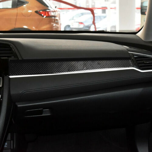 For Honda Civic 10th 2016-19 Carbon Fiber Console Dashboard Panel Cover Trim