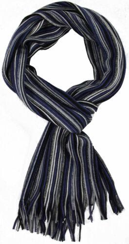 Schal Strickschal Streifen modisch blau weiß 50/% Wolle 50/% Polyacryl R635