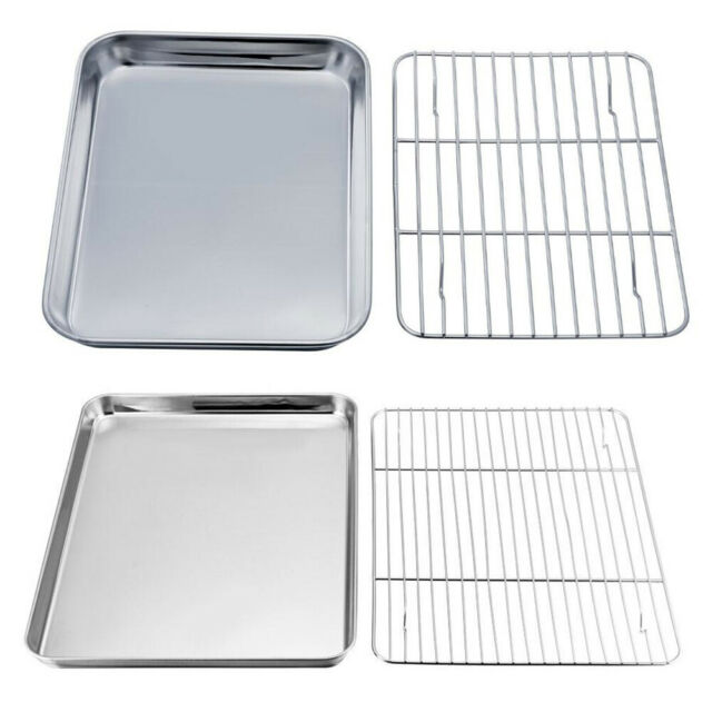 Baking Tray Pan With Cooling Rack Oven