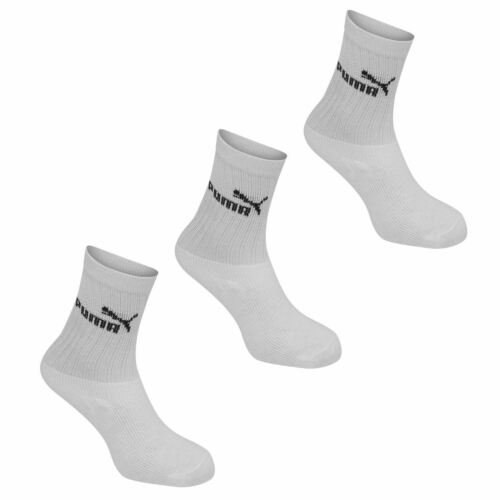 Kids Puma 3 Pack Crew Socks Junior Stretch New