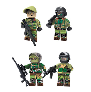 SWAT Spezialeinheiten Militär Soldat Kinder Spielzeug Mini Figur Geschenk 4PCS