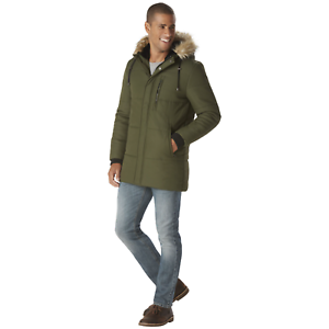 Details about  /Nuvano Men/'s Big//Tall Hooded Puffer Jacket Olive 2XL #NO8HX-P3