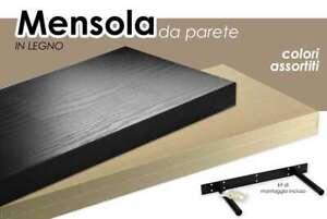 Mensola-da-Parete-in-Legno-Kit-reggi-mensole-Pensili-Muro-Moderne-40x25cm-nero