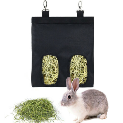Rabbit Hay Feeder Bag Small Animal Hay Feeder Feeding Device Food Storage Home