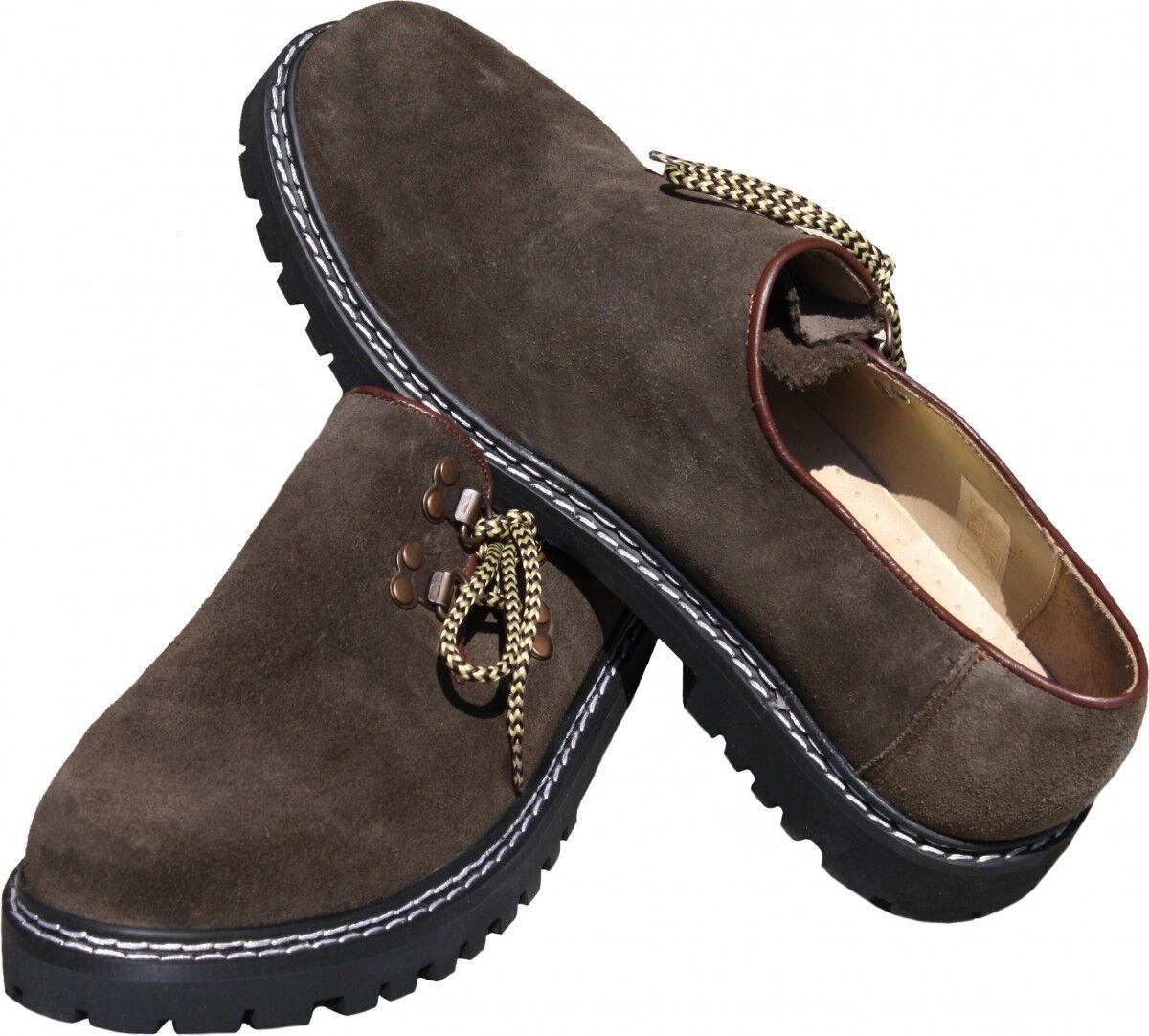 Trachtenschuhe Haferlschuhe Trachten Schuhe aus Wildleder   Wildleder Gummisohle 693d74