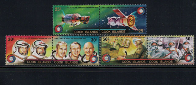 Br CW: Cook Isles 1975: #427-429 Setenant Prs Apollo/Soyus Space NH - Lot#8/8