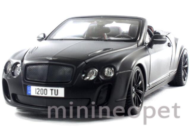 Bburago 1 18 Bentley Continental Supersports Convertible Isr Black