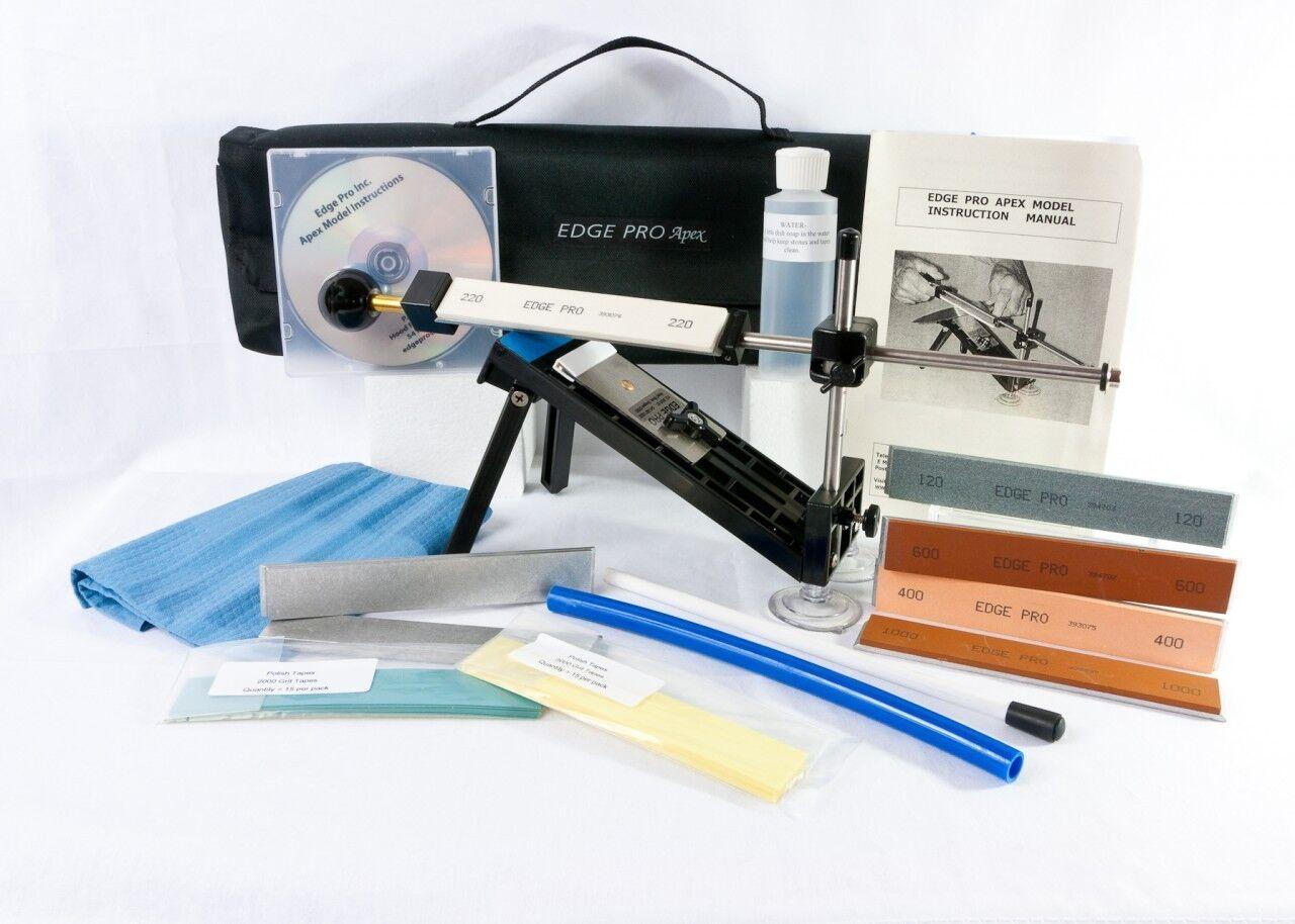 Edge Pro Apex Knife Sharpener Kit 4 w    Carrying Case Precise Hand Sharpening New 0e93ec