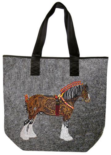 Feltro Borsa Shopper Borsa Elegante Stick 26107 * cavallo a freddo sangue