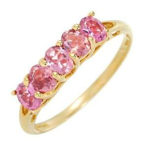 Exceptional-Pink-Tourmaline-Ring-0-85ctw-SZ-US-6-In-14K-Yellow-Gold