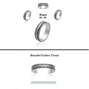 Bague Jonc T54 Martelé Large 20 mm Argent Massif 925 Rhodié de Dolly-Bijoux Other Fine Rings Fine Jewellery