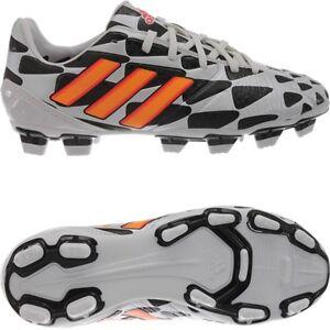 d2b939a19fc Adidas Nitrocharge 2.0 FG J Kid s soccer cleats white orange black ...