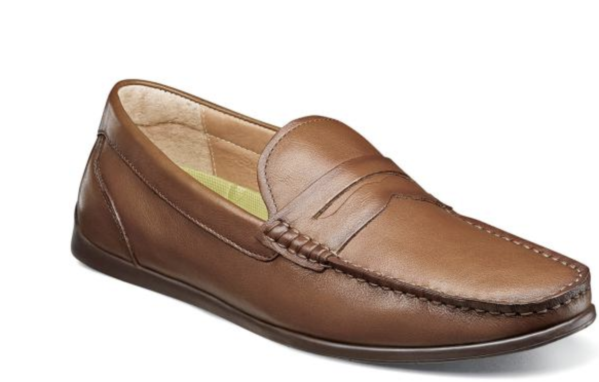 Florsheim Draft Moc Toe Penny Driving Moc shoes Cognac 13315-221