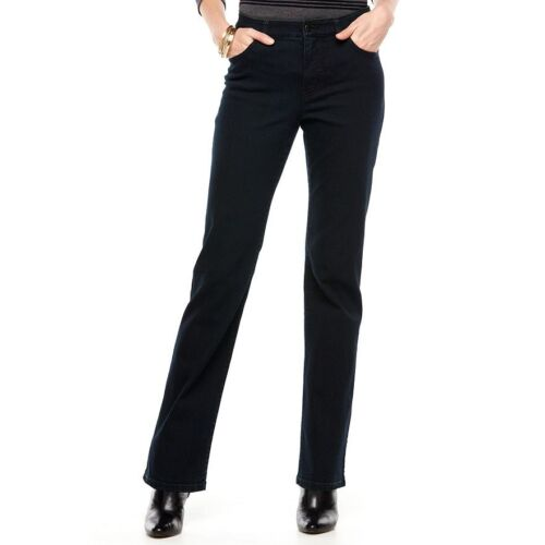 """32.5/"""" /""""entrejambe Midnight Blue Wash Chaps Curvy-Coupe Straight-Leg Jeans Neuf avec étiquettes taille 4"""