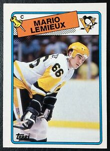 1988-89-Topps-1-Mario-Lemieux-NM-Mint-Pittsburgh-Penguins