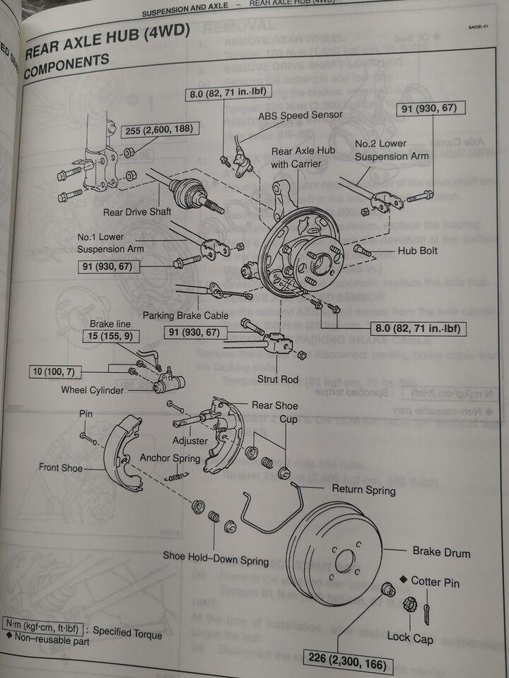 Reparationsbøger, Toyota Corolla EE-AE-CE manual + el bog