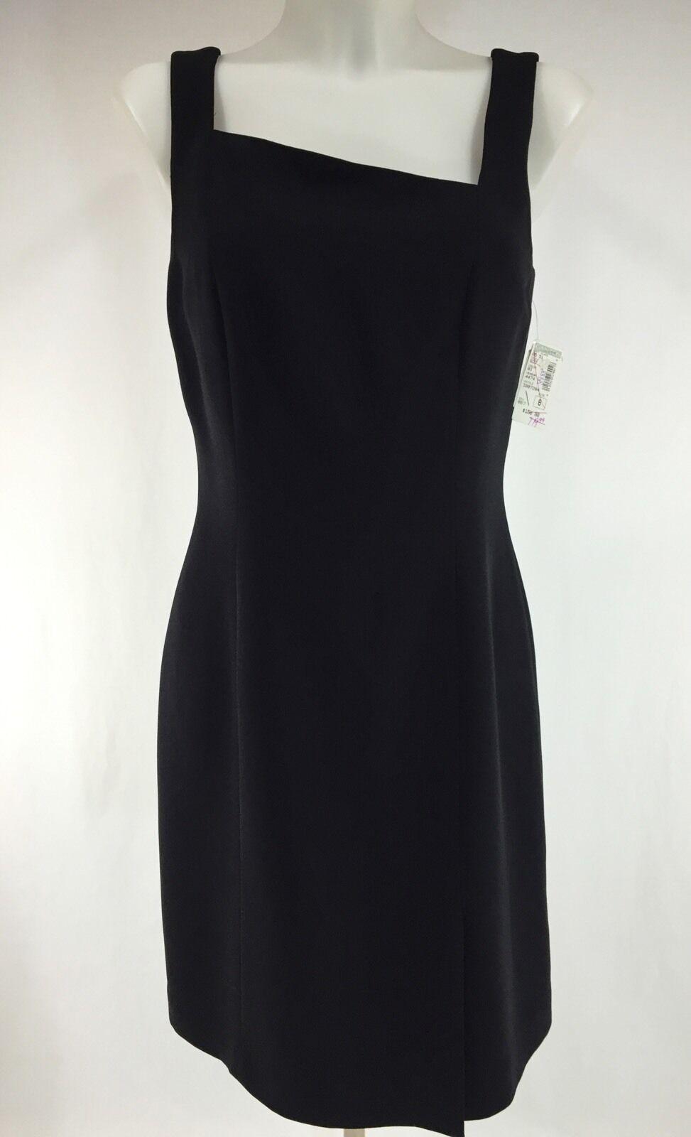 New Little schwarz Dress Größe 8 Asymmetrical Neckline Lined Sleeveless YL Yair