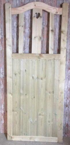 Bespoke gate 6ft H Curved Heart Wooden Garden Gate