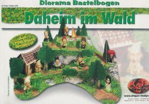 Kinder-RARE-DIORAMA-Allemand-Set-GNOMES-Daheim-DA-Wald-Im-COSTRUIRE-Limitee-1200