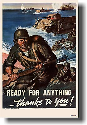 Ready for Anything - Vintage World War II Army - POSTER