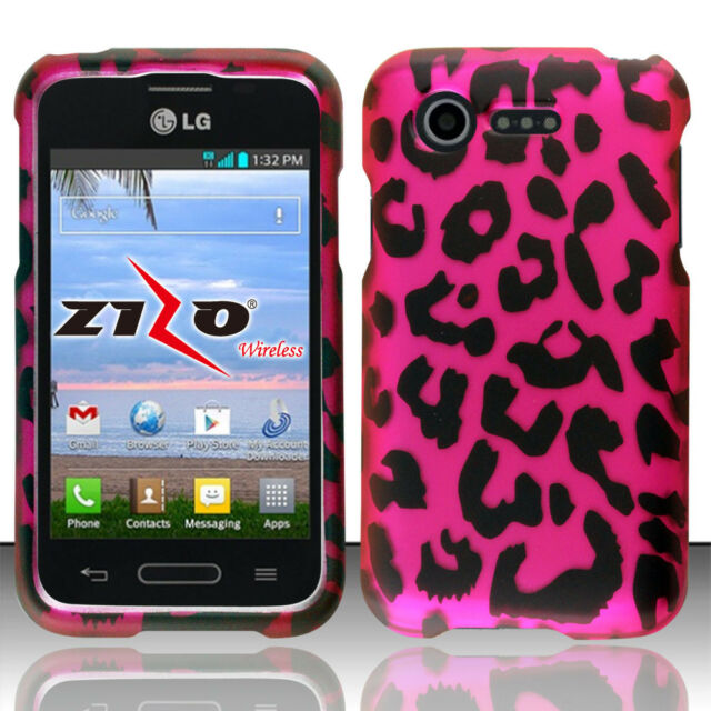 Lg Optimus Fuel L34C Rubberized Hard Case Snap Phone Cover + Screen Protector