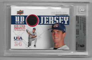 2009-BRYCE-HARPER-Upper-Deck-USA-Star-Prospects-Jersey-BGS-9
