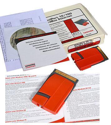 10/100 Scheda Di Rete Toshiba Xircom Px1010e-1nco R2be-100 Pcmcia Cardbus T66