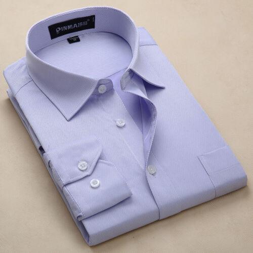 New Men/'s Long sleeve Formal Luxury Stylish Casual Slim Dress Shirts 7Color