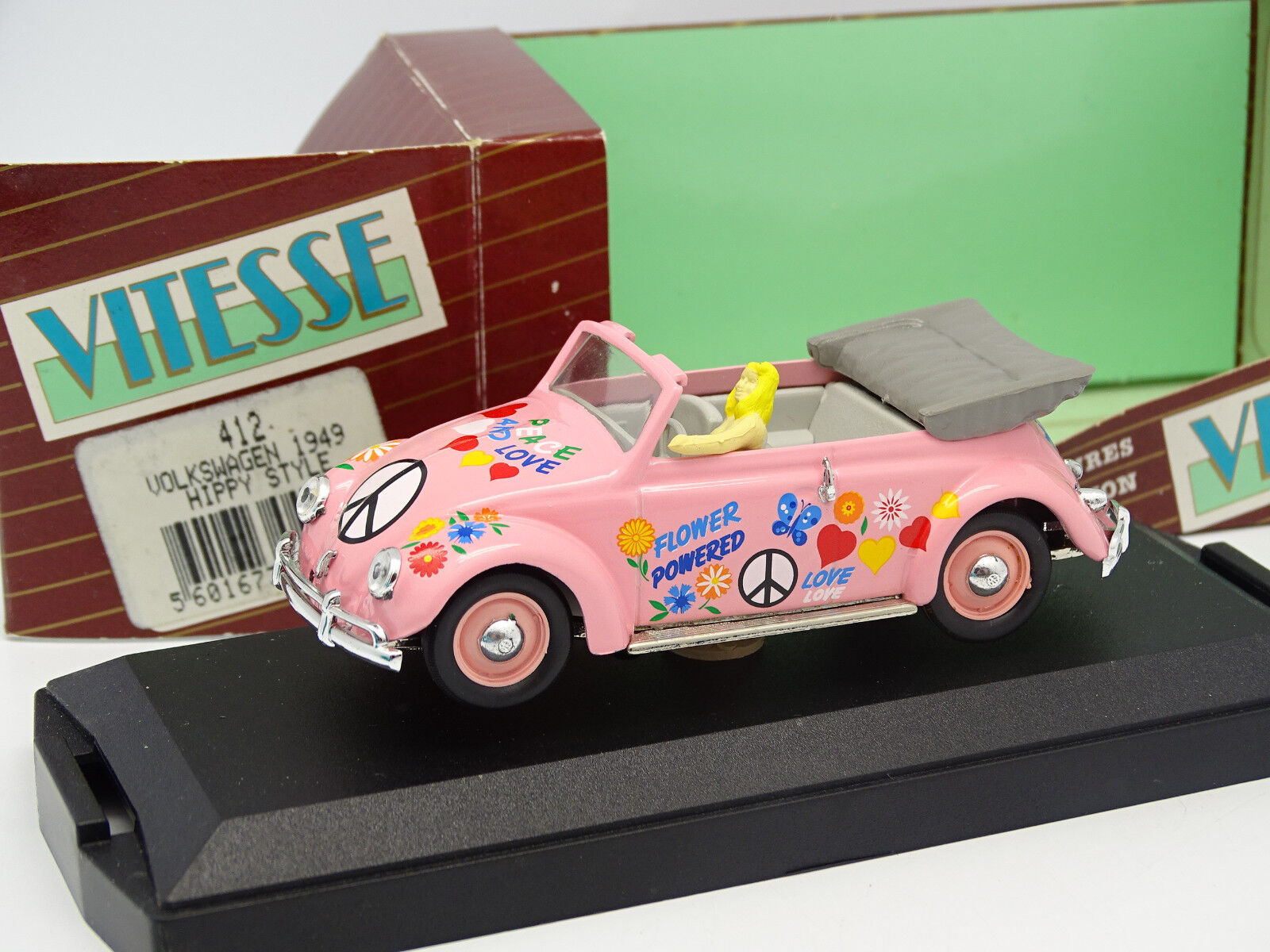 Vitesse 1 43 - VW Beetle Coccinelle Cabriolet Hippy Style 1949 V1