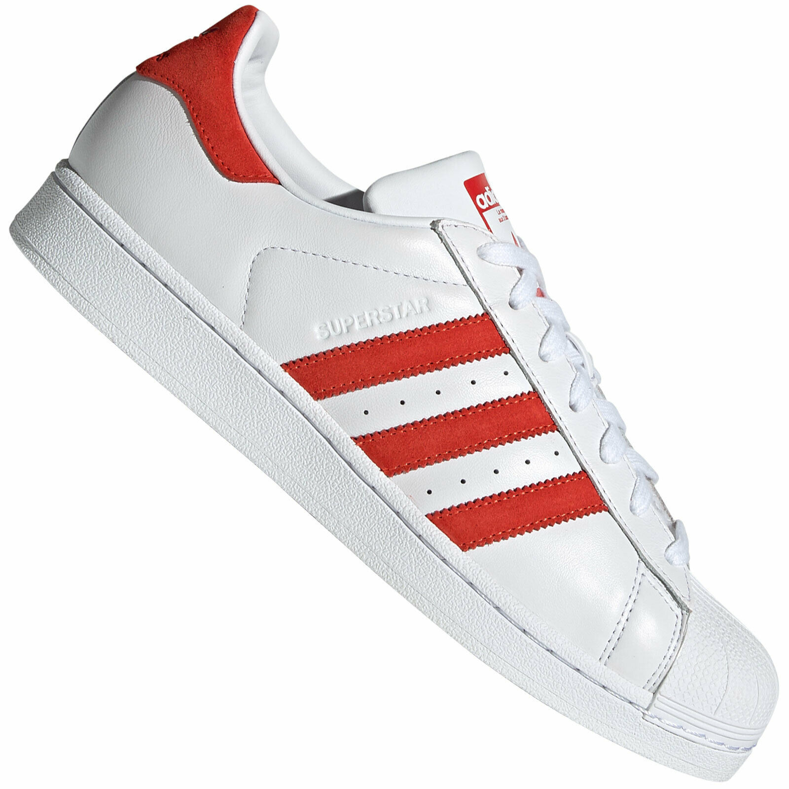 Adidas Originals Superstar scarpe da ginnastica scarpe Lace up  EF9237 Suede rosso  punti vendita
