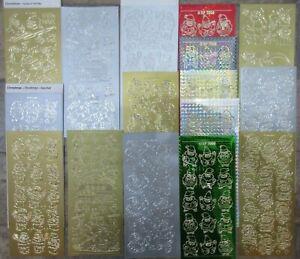 4-FOR-3-034-Santas-Skis-amp-Stockings-034-Christmas-Cardmaking-Peel-Off-Sticker-Sheets