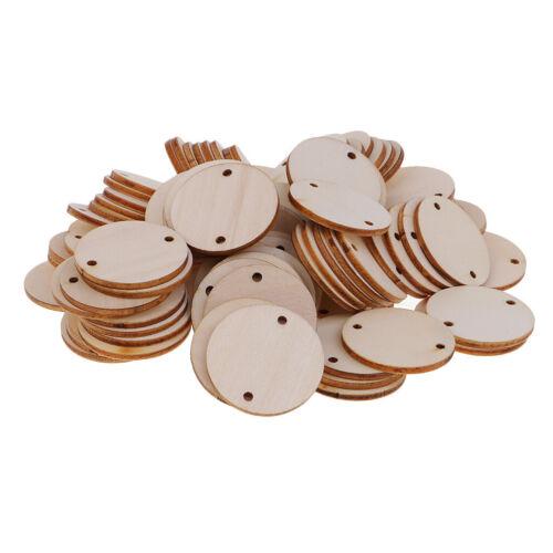100 Stück Runde Form unvollendet ausgeschnitten Holz Stücke Scheiben